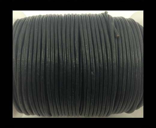 Round Leather Cord-1,5mm-dark grey