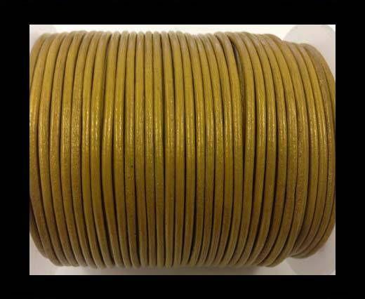 Round leather cord-2mm-metallic gold