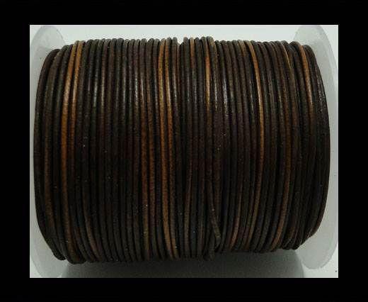 Round Leather Cord -1mm- Vintage Ten
