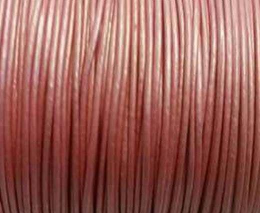 Round Leather Cord -1mm- SE Metallic Pink