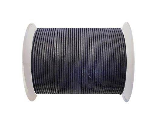 Round Leather Cord -1mm- SE R 26 Violet Plum