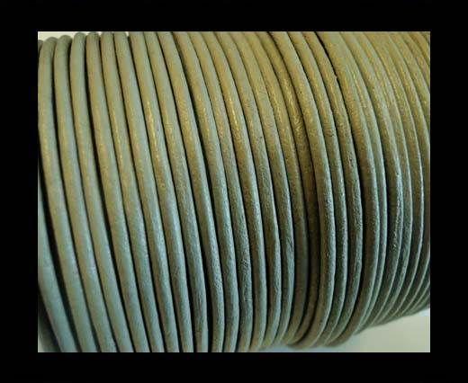 Round Leather Cord -1mm - SE R Light Grey
