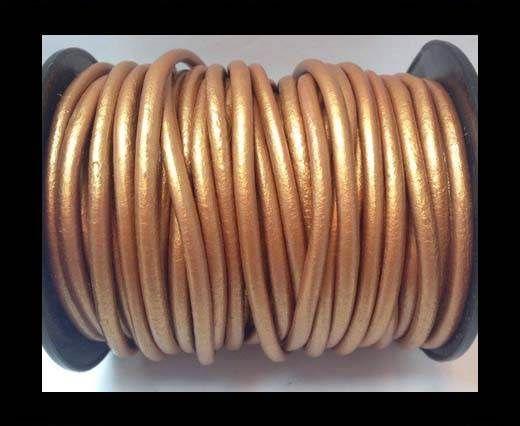 Round Leather Cord 4mm-Metallic Bronze