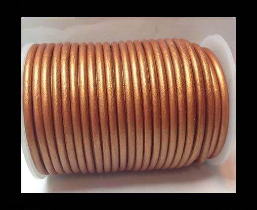 Round Leather Cord 4mm-SE.M.Orange