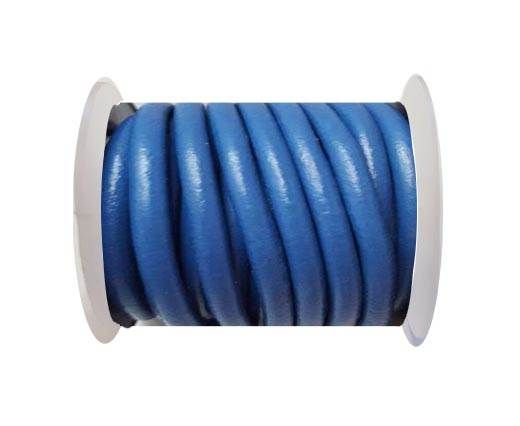 Round Leather Cord -5mm - Blue