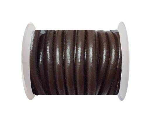 Round Leather Cord -5mm - coffee