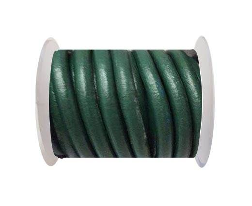 Round Leather Cord -5mm - Green