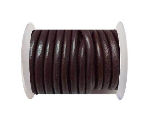 Round Leather Cord -5mm - Bordeaux
