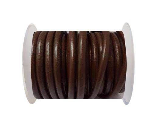 Round Leather Cord -5mm - Brown