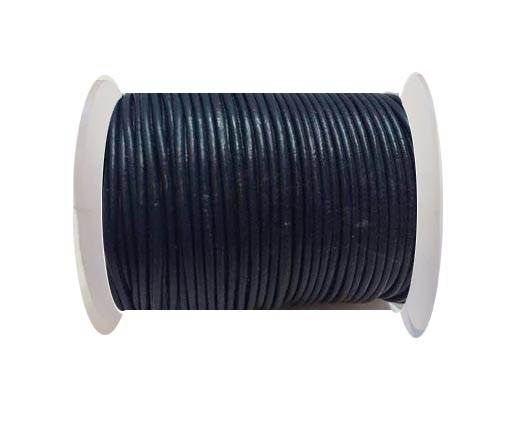 Round Leather Cord SE/R/Navy Blue - 1,5mm