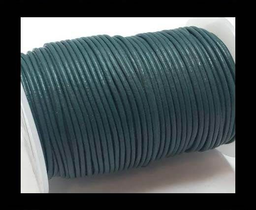 Round Leather Cord SE/R/25-Green Grey - 1,5mm