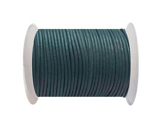 Round Leather Cord -1mm - Green Grey