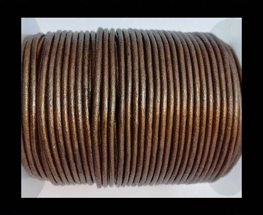 Round leather cord-2mm-METALLIC TAMBA