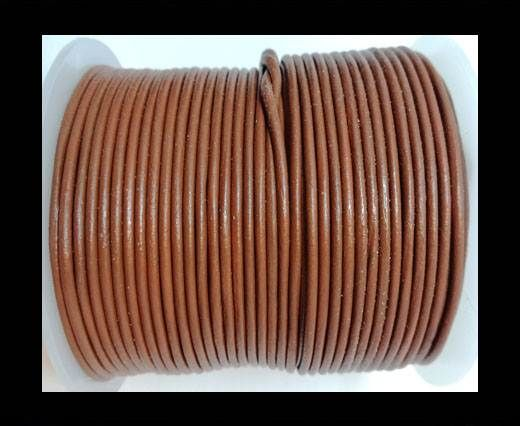 Round Leather Cord-1,5mm-plain-BURNT SIENNA