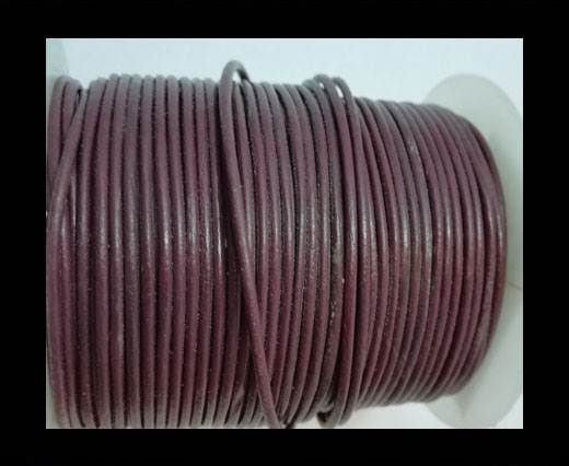 Round Leather Cord-1,5mm-plain-FUCHSIA