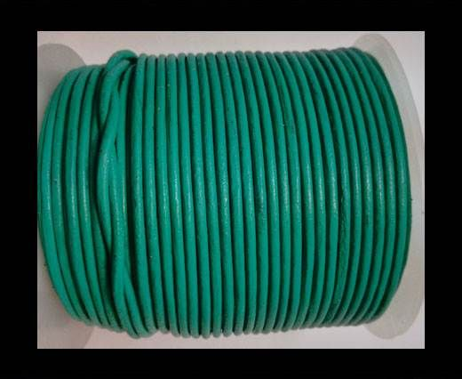 Round Leather Cord-1,5mm-plain-GREEN