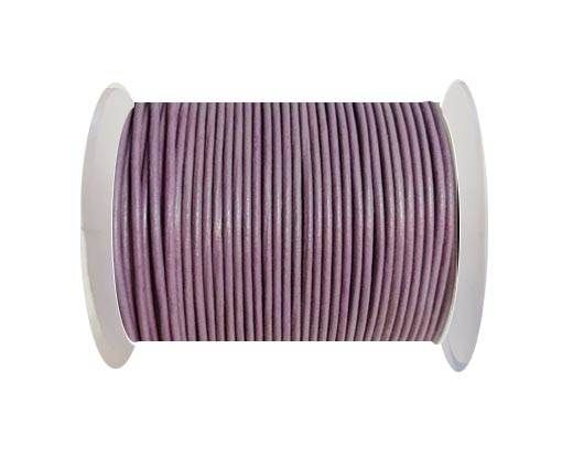 Round Leather Cord -1mm - PASTEL PURPLE