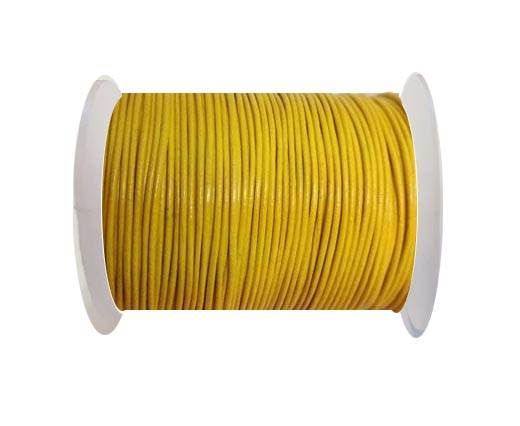 Round Leather Cord -1mm - YELLOW