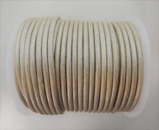 Round Leather Cord -  SE.M.Beige - 3mm