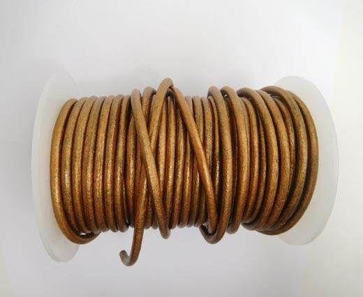 Round Leather Cord 4mm-SE.M.Copper