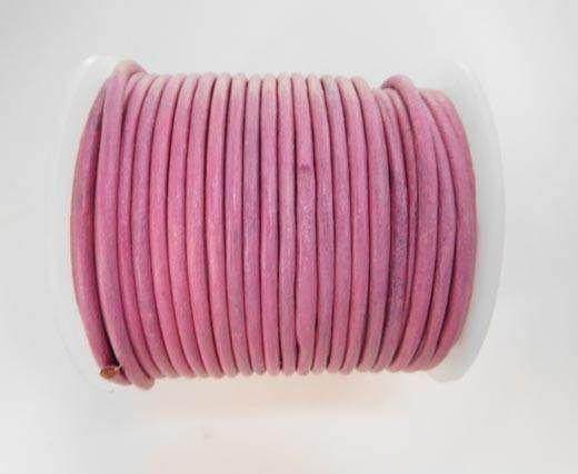 Round Leather Cord - SE.M.Dark Pink  - 3mm