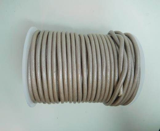 Round Leather Cord 4mm- SE.M.Taupe