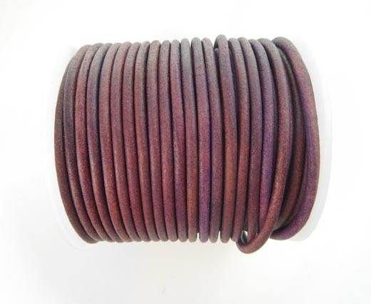 Round Leather Cord - SE.V.Fushia  - 3mm