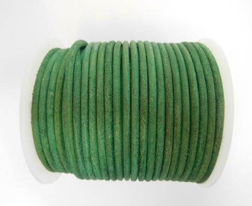Round Leather Cord - SE.V.Green  - 3mm