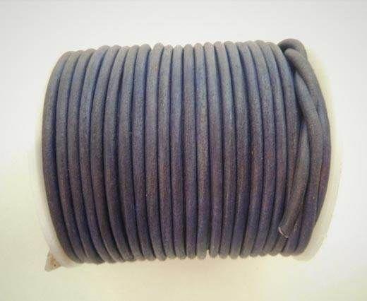Round Leather Cord - SE.V.Purple  - 3mm