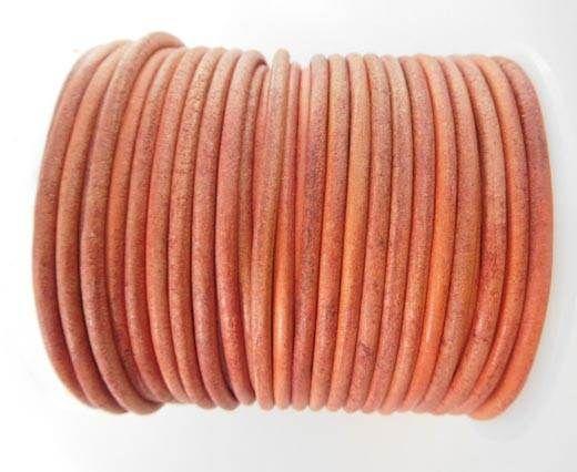 Round Leather Cord - SE.V.Rose1  - 3mm