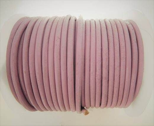 Round Leather Cord - SE.V.Rose  - 3mm