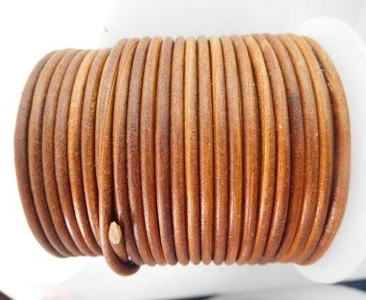 Round Leather Cord - SE.V.Tan  - 3mm