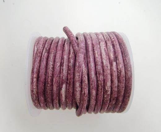 Round Leather Cord -5mm Dark Pink