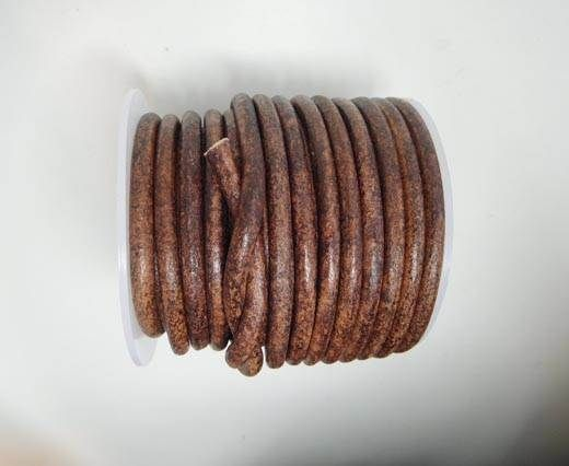 Round Leather Cord - V.Cognec-5mm