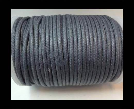 Round Wax Cotton Cords - 2mm - Steel Grey