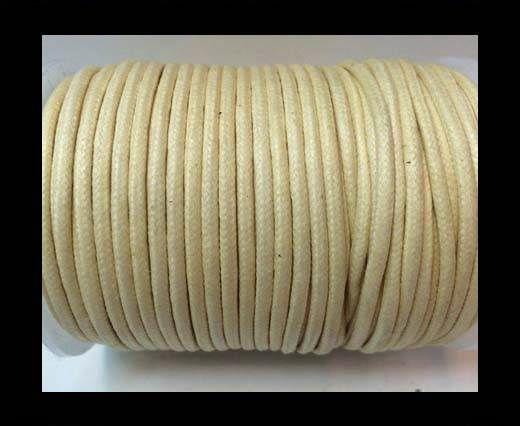 Round Wax Cotton Cords - 3mm  - Popcorn