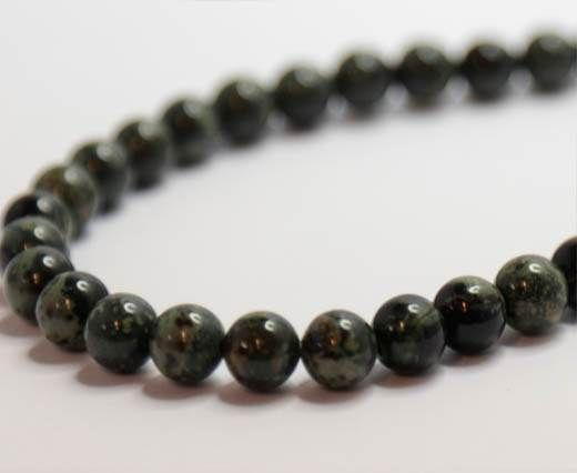 Natural Stones-8mm-Russian Serpentine Frosted