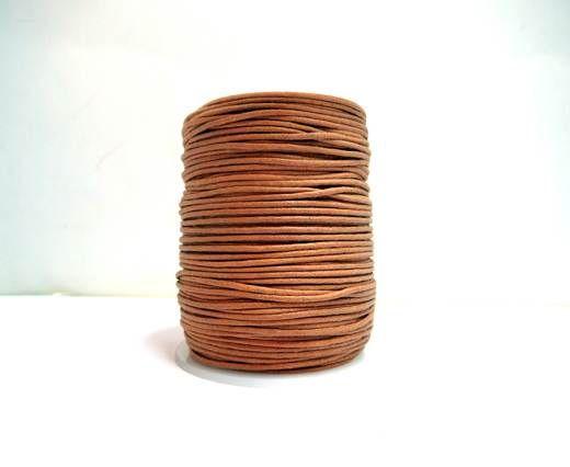 Wax Cotton Cords - 1mm - Rust