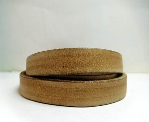 Vintage Style Flat Leather - 10mm Screchi waxi