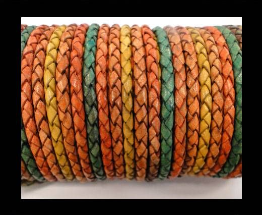 Round Braided Leather Cord SE/DM/06-Sun-8mm