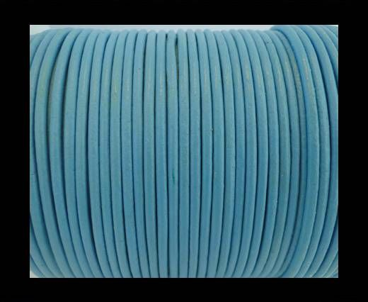 Round Leather Cord SE/R/Light Blue - 2mm