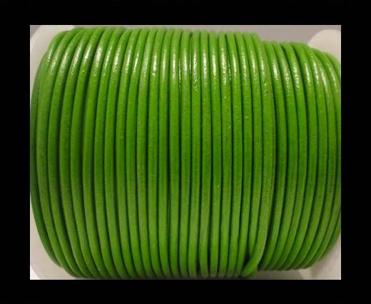 Round Leather Cord SE/R/Olive Green - 1,5mm