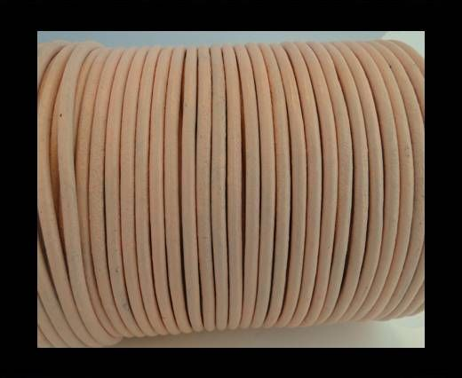 Round Leather Cord SE/R/Peach-3mm