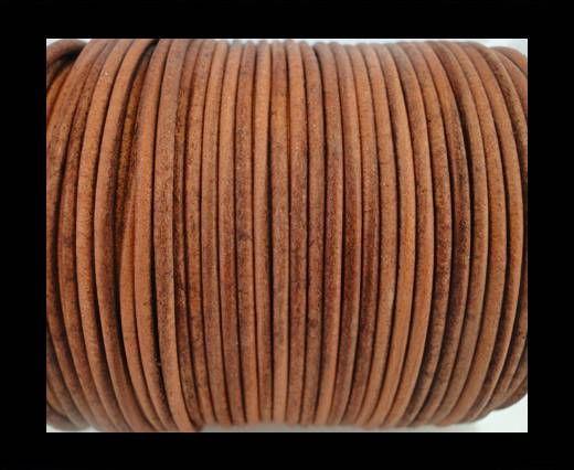 Round Leather Cord SE/R/Vintage Cognac-3mm
