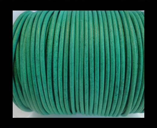 Round Leather Cord SE/R/Vintage Green-1,5mm