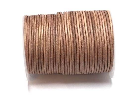 Round leather cord-2mm-vintage rose