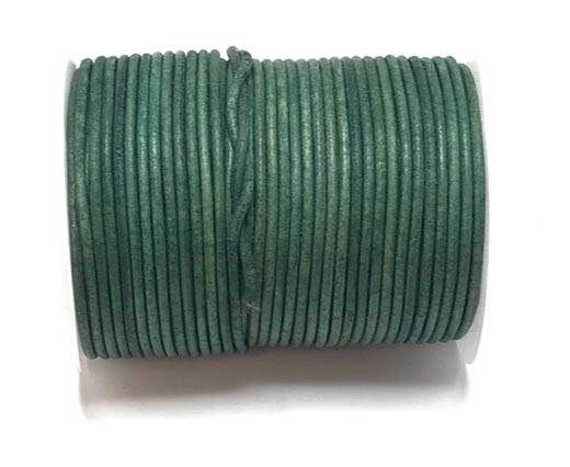 Round leather cord-2mm- Vintage Turquoise(038)