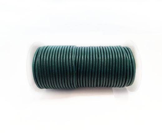 Round Leather Cord SE/R/23-Sea Blue-2mm