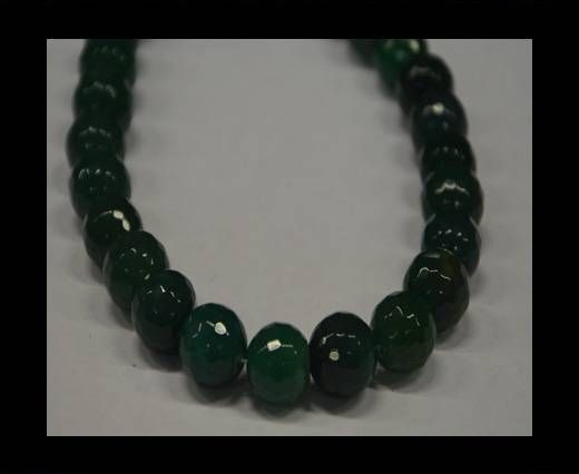 Semi Precious Stones item 3-14mm-Dark Green