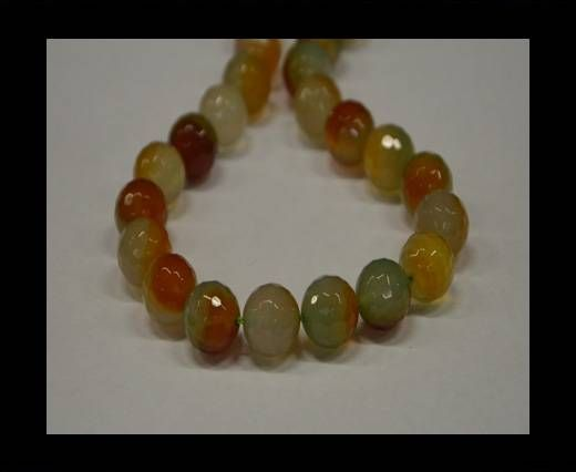 Semi Precious Stones item 3-14mm-Multi Orange